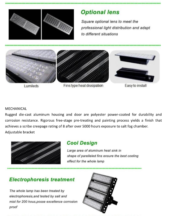 300W LED Tunnel Lights advantages