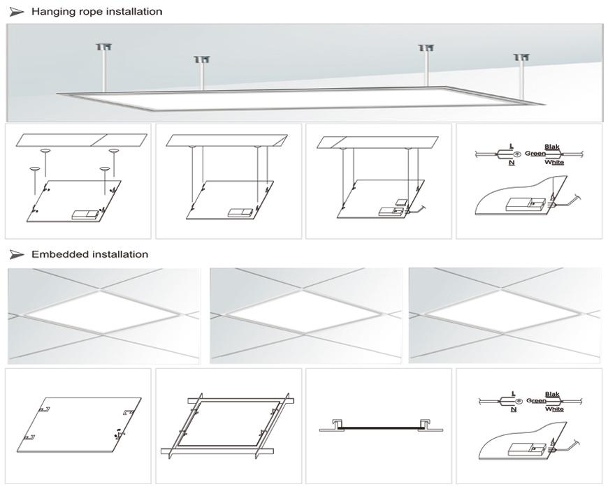 15w Square LED Panel Light installation.jpg