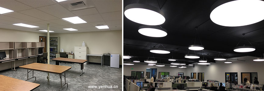 Square and Round led ceiling panel light
