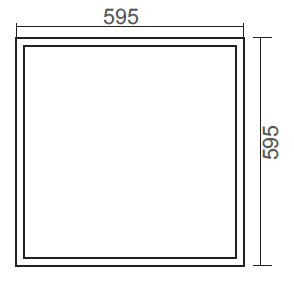 600x600mm LED panel light