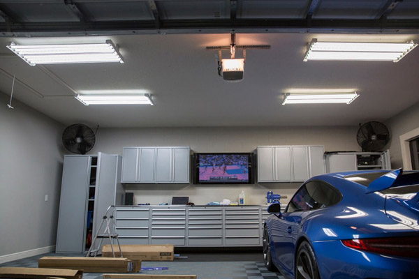 Which LED panel light can be used for garage lighting
