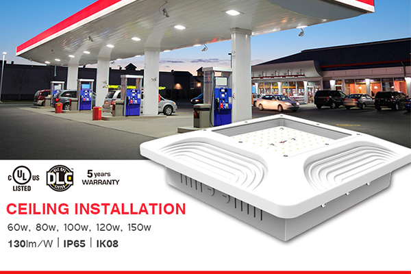 LED gas station canopy lighting