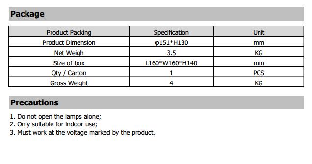 IP67 Waterproof LED Poultry Light 9W Package