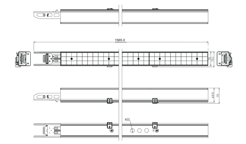 72W LED Linear Light Dimensions