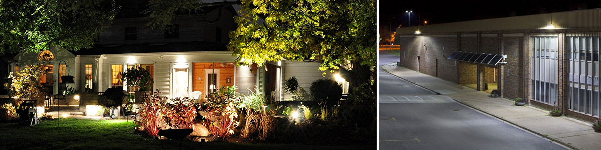 LED Floodlights for patio and road lighting