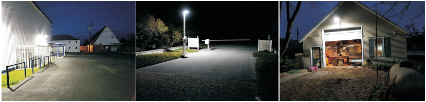 Led Yard Lights are Perfect for Garages, Barn Lights, Alleyways, Parking Lots and Building Walls