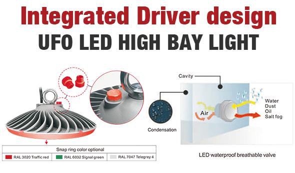 Integrated driver design led high bay light