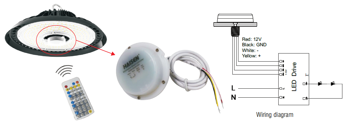 UFO LED High Bay light Microwave Motion Sensor