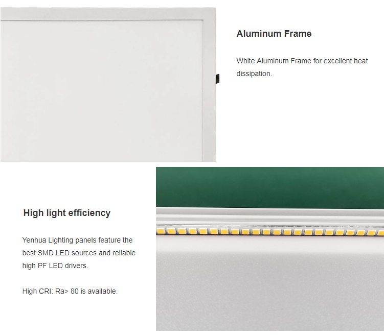 LED panel lights use good quality components