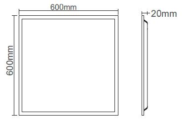 20mm Backlit LED Panel Light