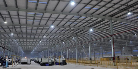 Warehouse LED lighting renovation project
